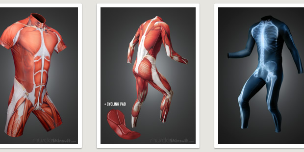 Show off your muscles with the Muscle Skin Suit