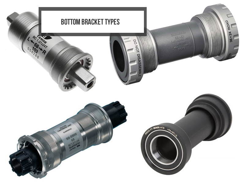 Types of bicycle bottom brackets
