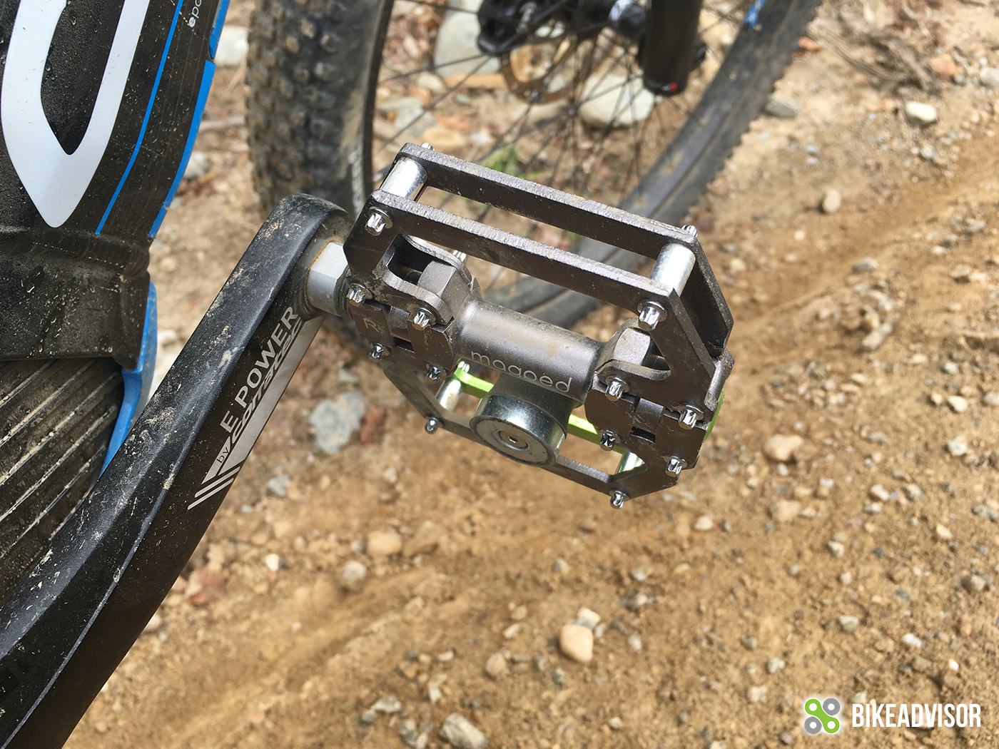 This is the default position of the pedal considering the side with a magnet is heavier.
